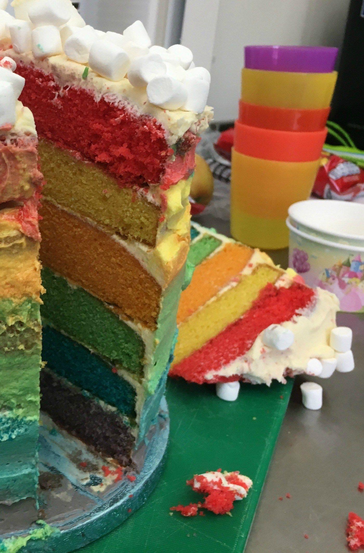 Gluten And Dairy Free Rainbow Cake Recipe Rainbow Cake Cake Dairy Free