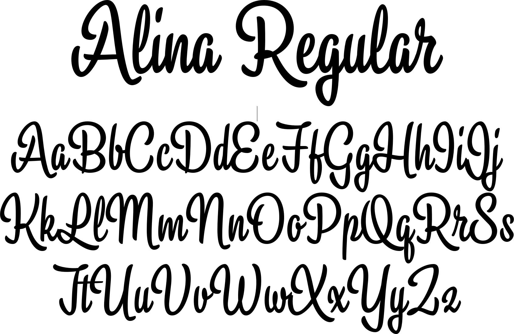 Alina Regular  Fonts I Love    Fonts Calligraphy And