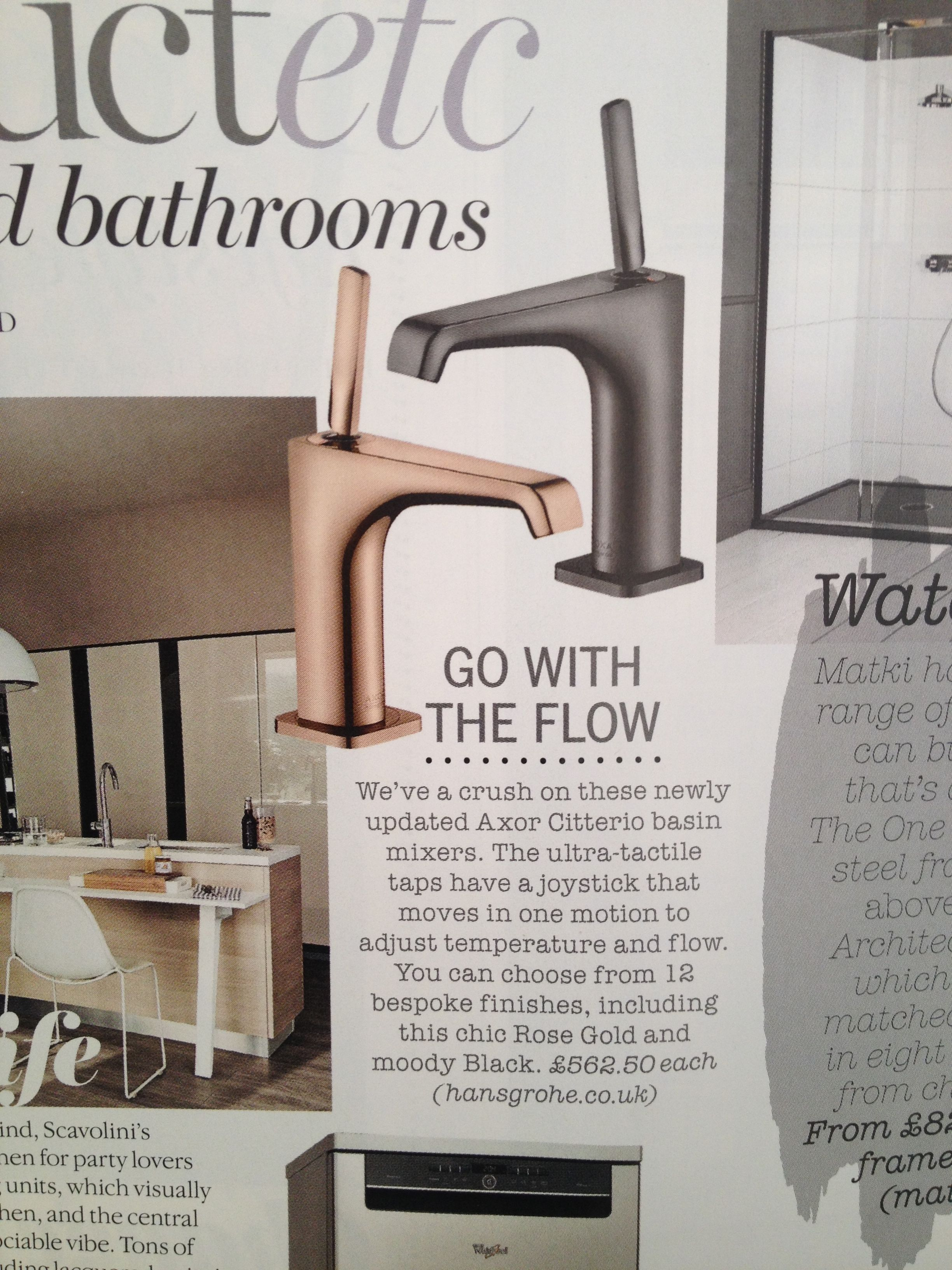 excellent rose gold mixer tap by hansgrohe.co.uk. Only £562 each ...