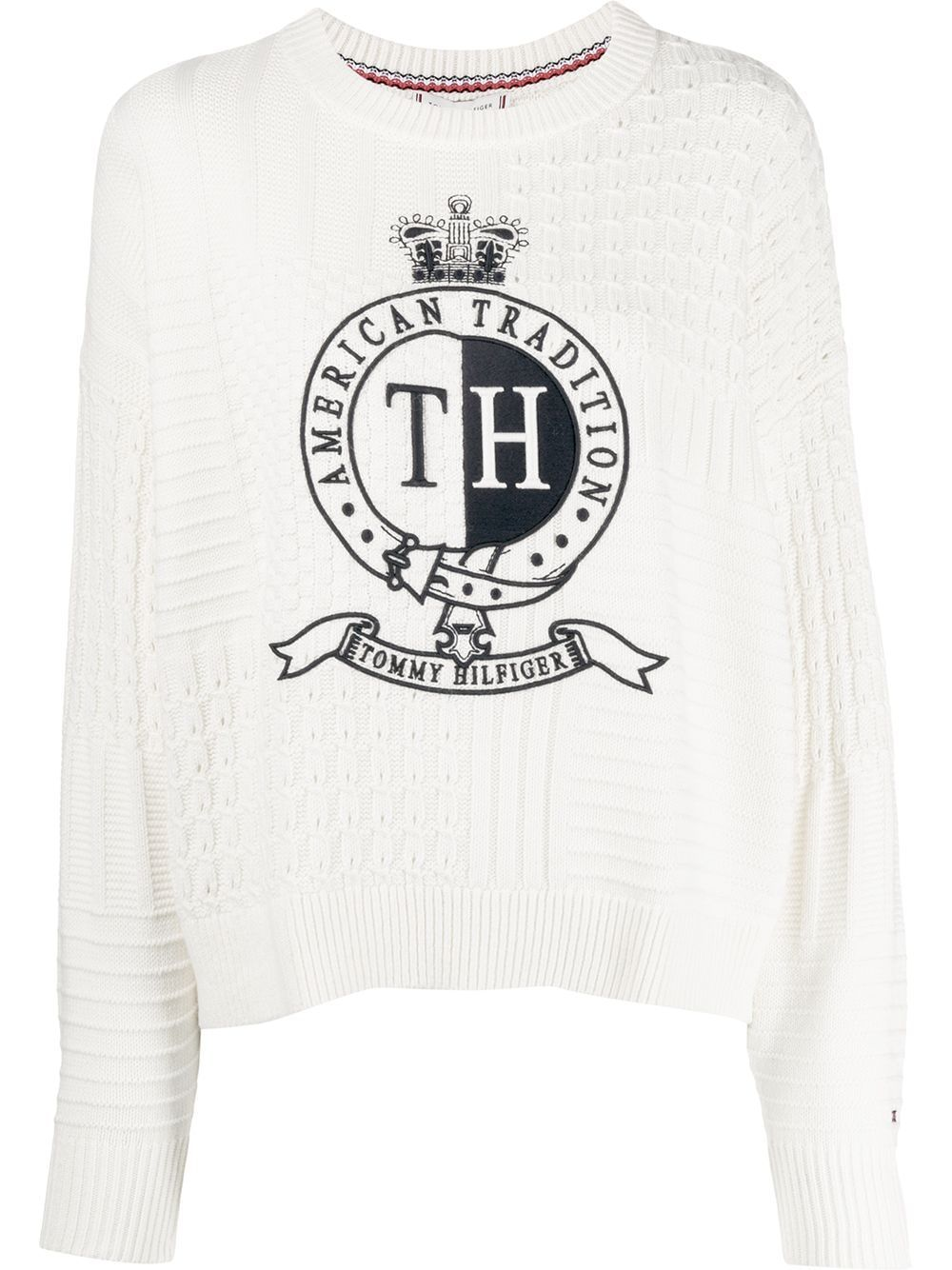 Embroidered Crest Sweater Tommy Hilfiger Embroidered Crests Sweaters [ 1334 x 1000 Pixel ]