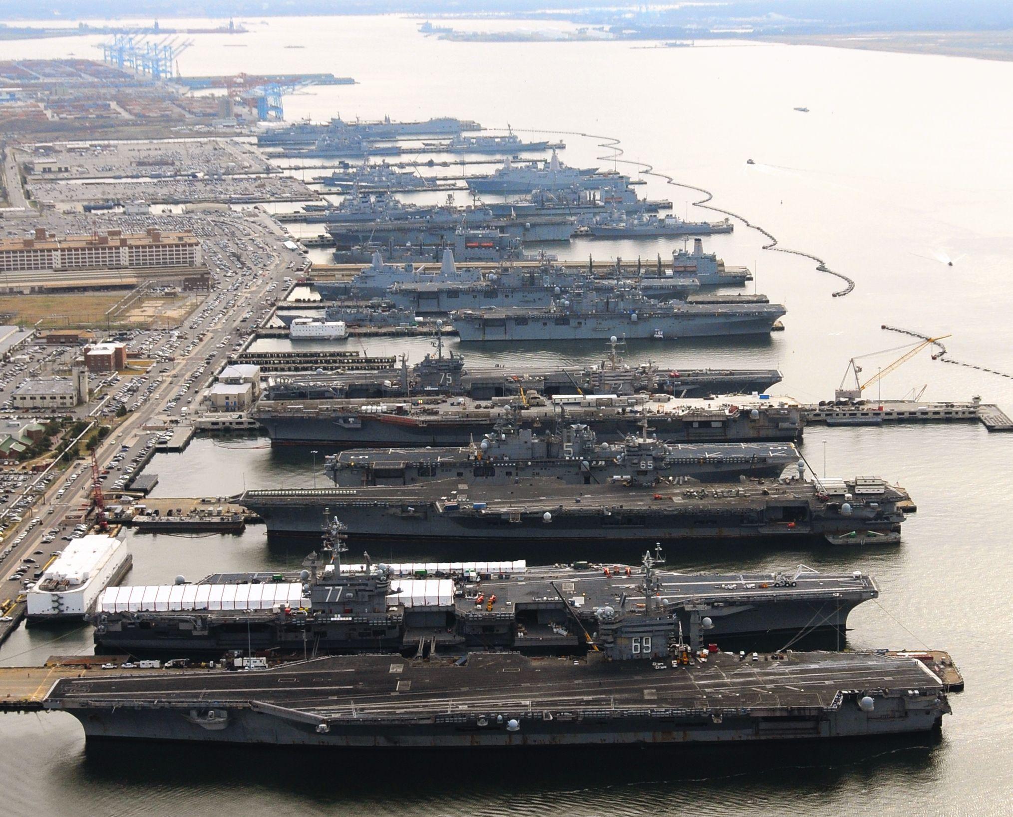 Five aircraft carriers four big deck amphibious assault