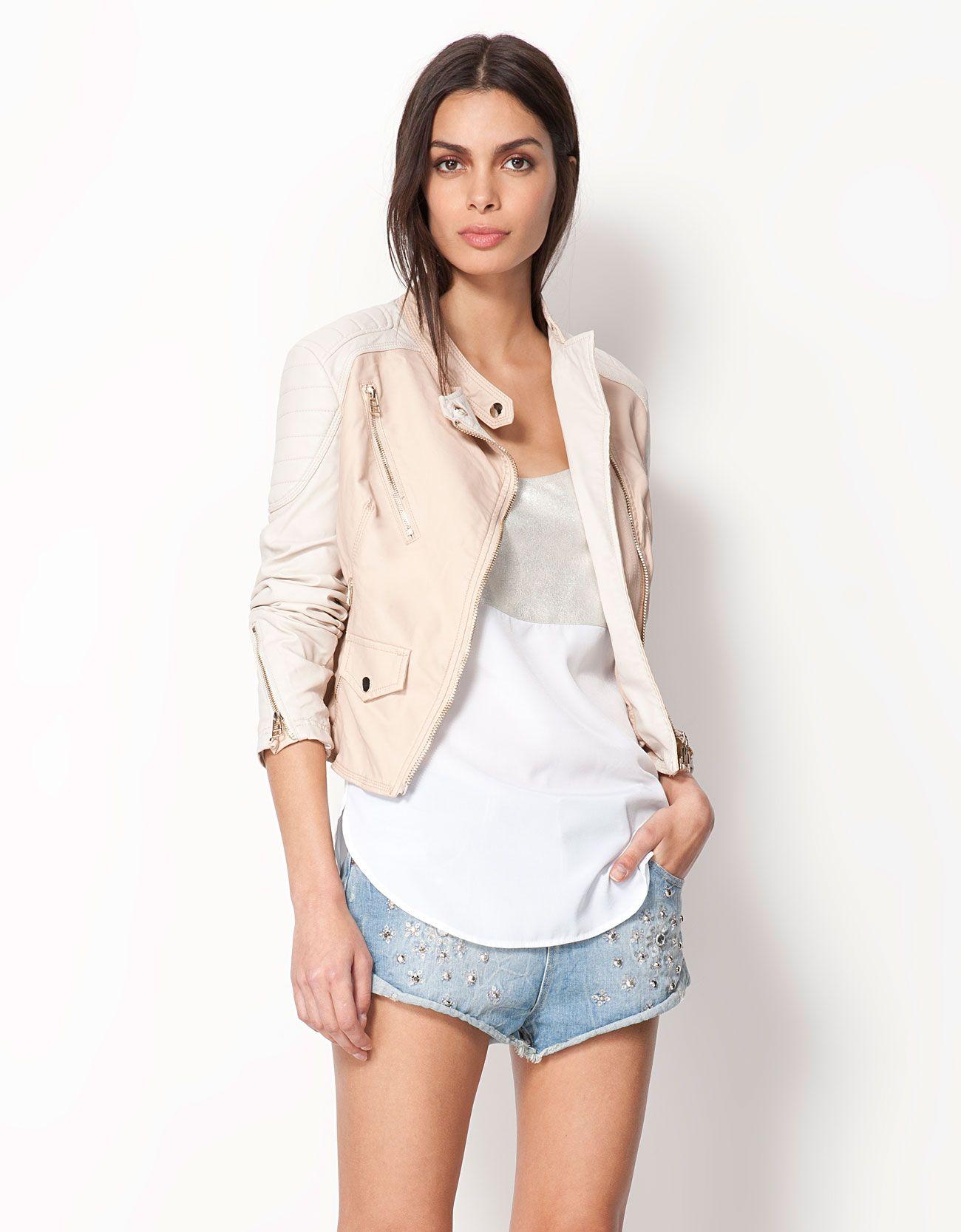 a62b9f3768 Bershka Azerbaijan - Bershka imitation leather jacket   style ...