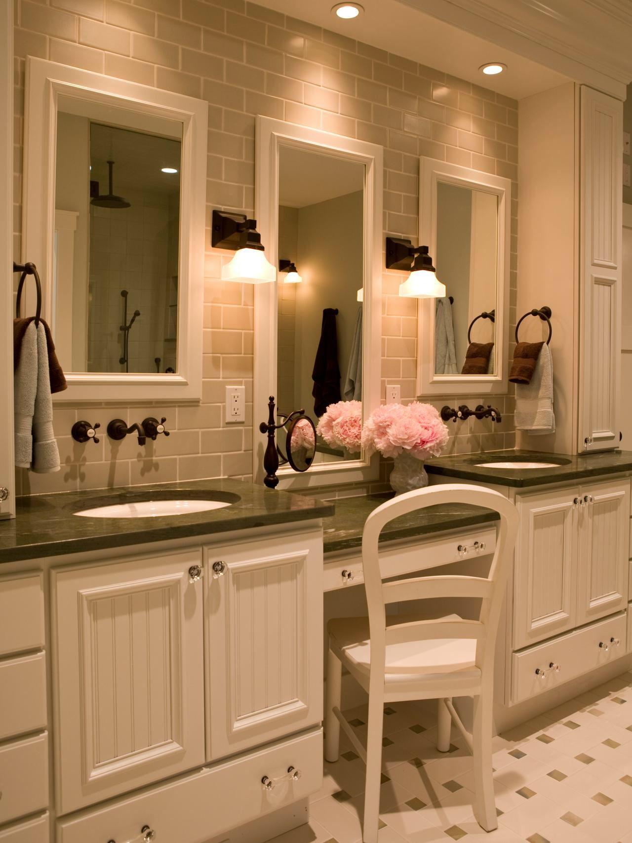Contemporary Art Websites bathroom vanity with makeup area Google Search Interior Ideas Pinterest Bathroom vanities Vanities and Google search