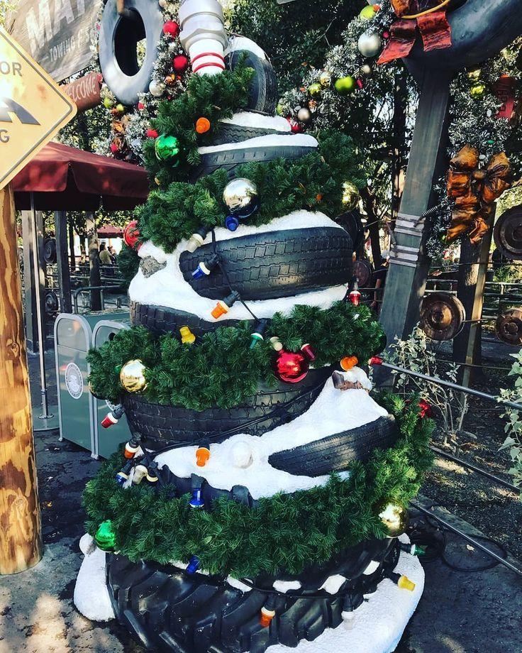 Cars land in disneys california adventure at christmas