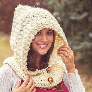 Crochet Pattern for Star Stitch Hooded Cowl - 5 sizes, baby to large ...