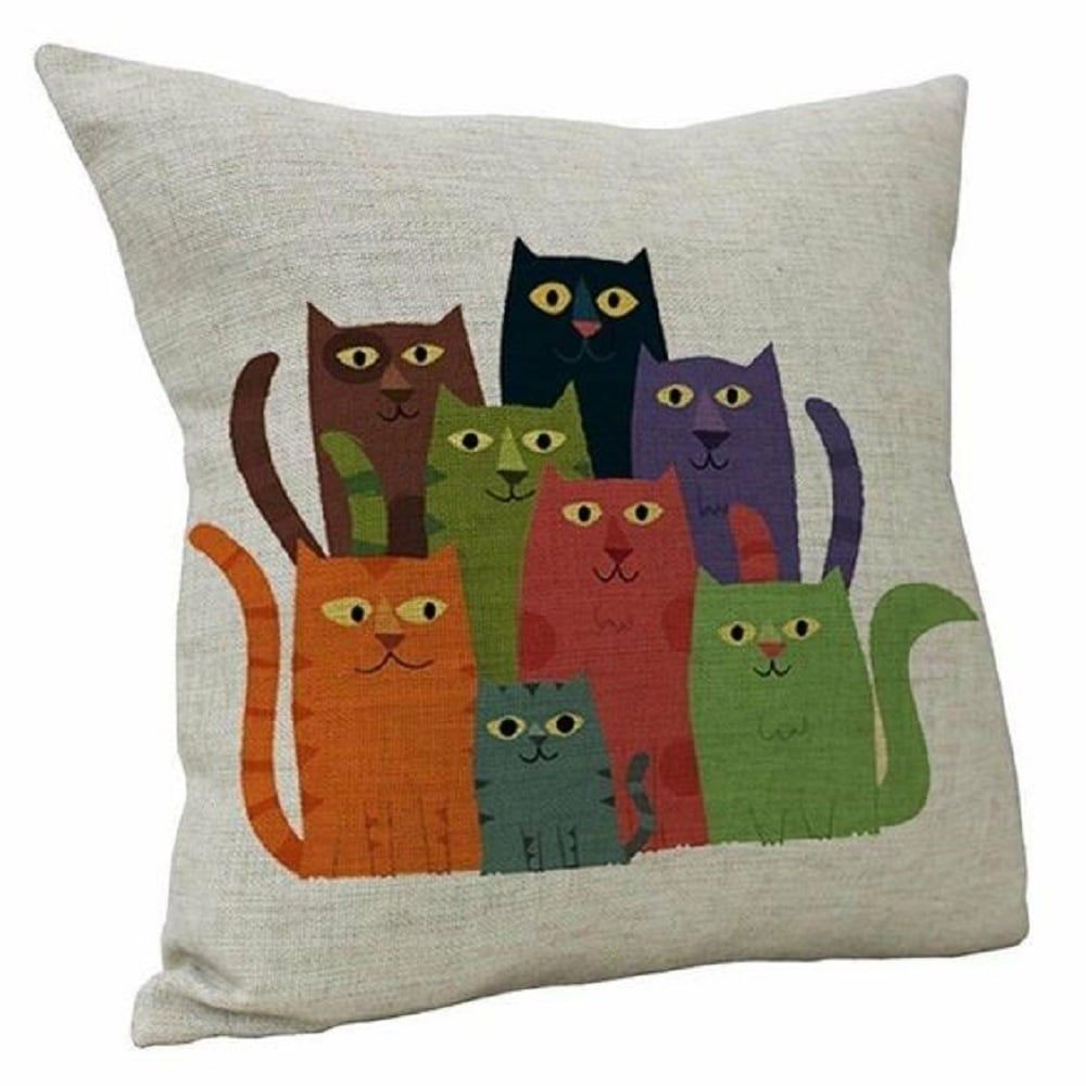 18/'/' Owl pattern Cotton Linen Pillow Case Sofa Cushion Cover Home Decor