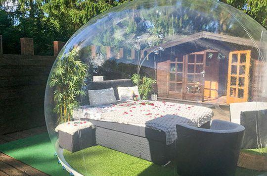Kurzurlaub mit Nacht im Bubble-Hotel Gerolstein für 2