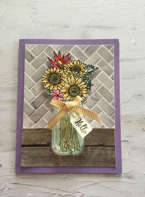 stampin' up jar of flowers in 2020  floral cards mason