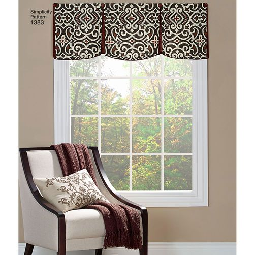 Simplicity Pattern 1383 Valances For 36 40 Wide Windows Sewing