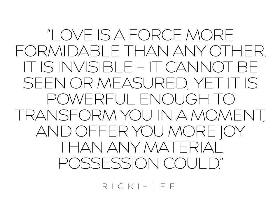 Love, by Ricki-Lee