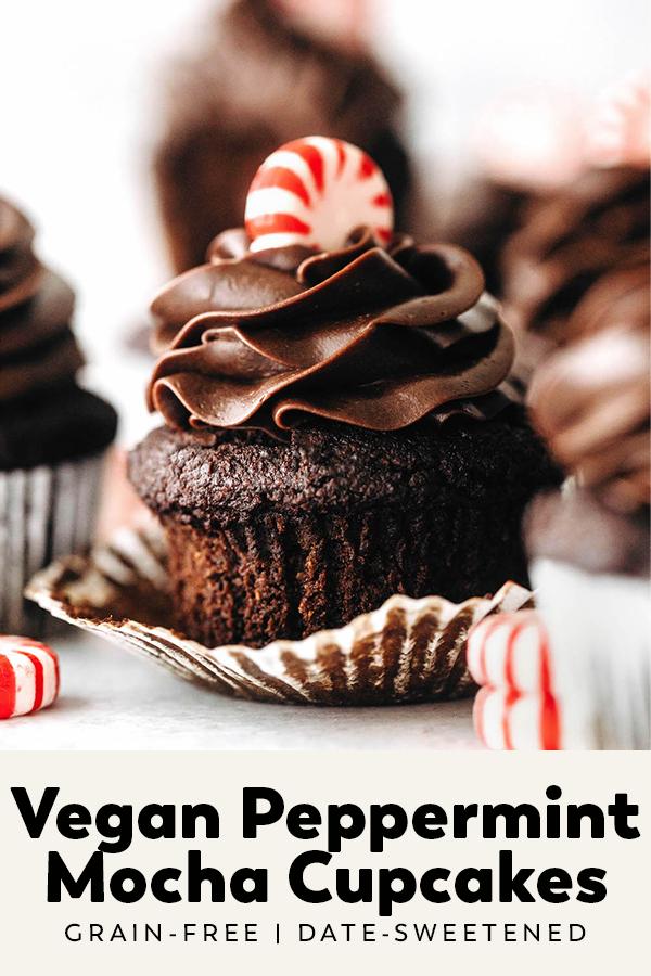 Vegan Peppermint Mocha Cupcakes (grain-free)