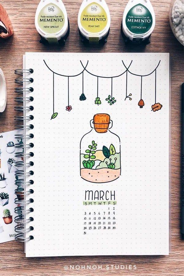 Bullet Journal Monatliche Cover-Ideen für März 2019 #journaling Bullet Journal… - Holzbearbeitung