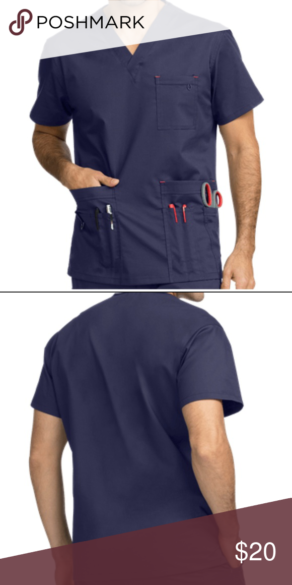 833cd168935 Med Couture MC2 Men's One Pocket Top (SCRUB TOP) NAVY Med Couture  introduces MC2: the new look and feel of men's medical scrubs. With  breathable cotton rich ...