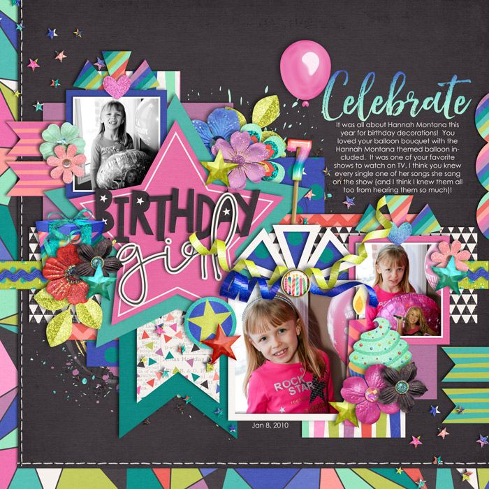 Used the following from the Sweet Shoppe Template - Set 212 A - birthday wish template