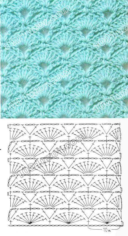 Вязание крючком-узоры | Puntadas, Ganchillo y Patrones crochet gratis