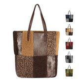 Photo of OBC WOMEN'S FUR BAG Shopper handbag hobo bag leather look shoulder bag shoulder bag hobo …