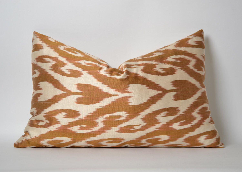 Ikat pillow cover ethnic home decor uzbek pillows decorative