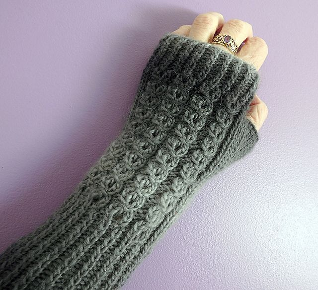 Faux Cable Fingerless Mittens Fingerless Mittens Pattern Fingerless Gloves Knitted Mittens Pattern