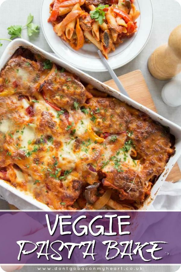 Nothing screams comfort food louder than pasta bake & this vegetarian version is no exception. Easy