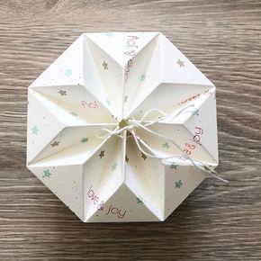 """Origami Box """"Stern"""" mit Anleitung #papiercadeau"""