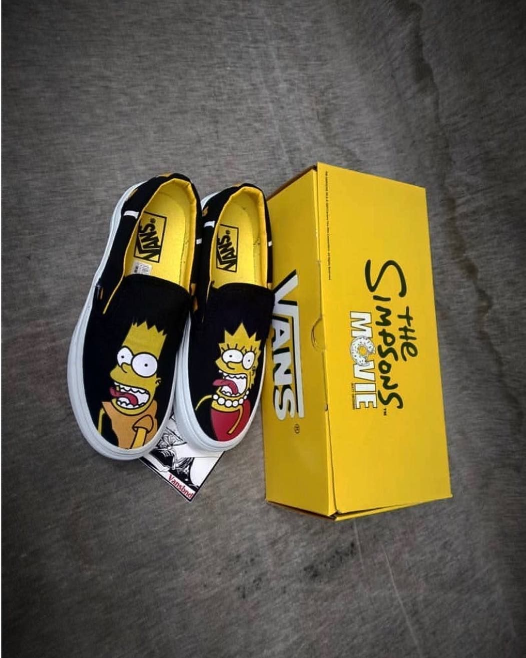 Edodcshoes Bandung On Instagram Edodcshoesslipon Readystock Vans Slipon X Simpsons Movie Condition 100 Bnib Kualitas Pr Sneakers Custom Sneakers Vans