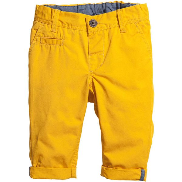 c7ae1f7e9 H&M Chinos $6 ($6) ❤ liked on Polyvore featuring pants, baby, boys,  children, kids, chino pants, cotton trousers, cotton pants, yellow chino  pants и chinos ...