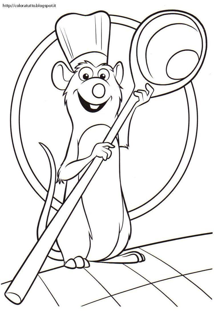 Ratatouille  Coloriage, Dessin pokemon à imprimer, Coloriage disney