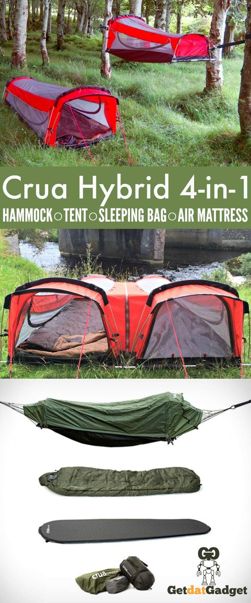 Crua Hybrid Is A One Person Camping Hammock That Converts To A Bivy Tent With Custom Fitted Self Inflating Air Mattress A Tent Sleeping Bags Camping Bivy Tent