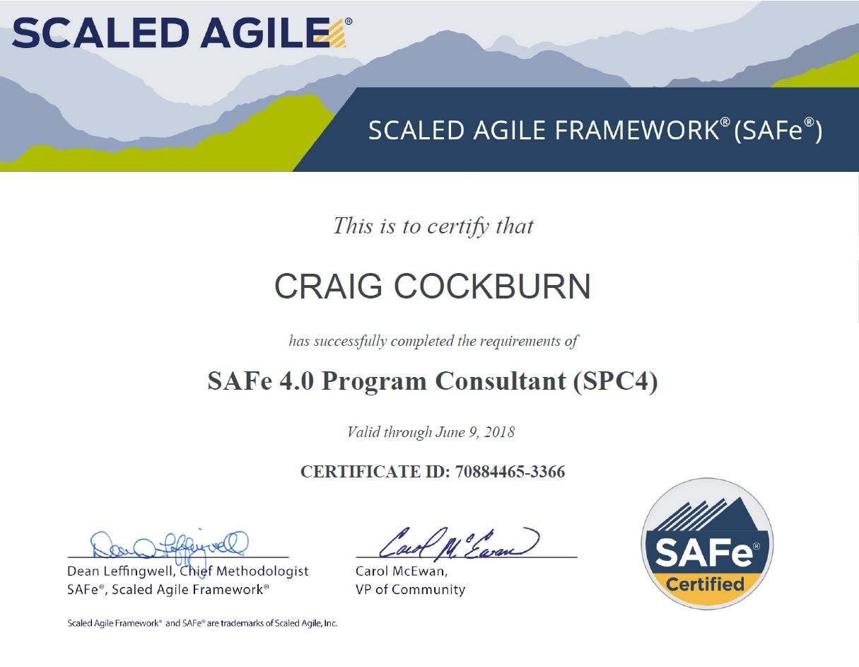 Certification As A Safe Program Consultant Certified To Implement