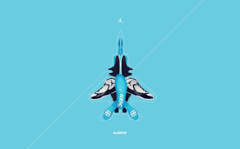 blue air jordan wallpaper
