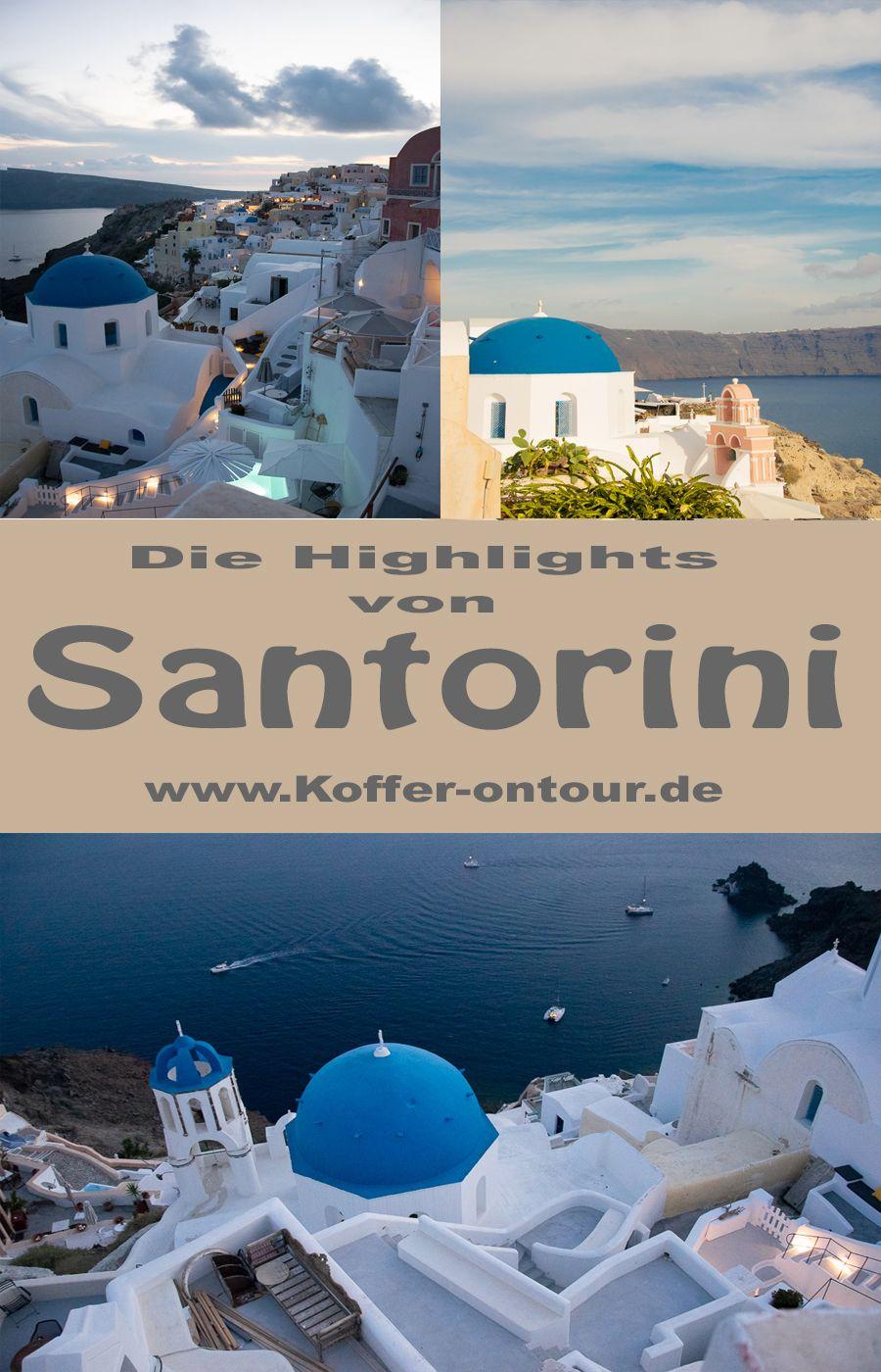 Santorini Die Kykladen Perle Santorini Griechenland Und