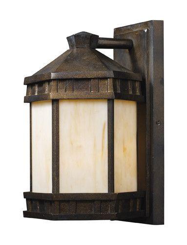 ELK Lighting 64021-1 Mission Abbey One Light Outdoor Sconce In Hazlenut Bronze
