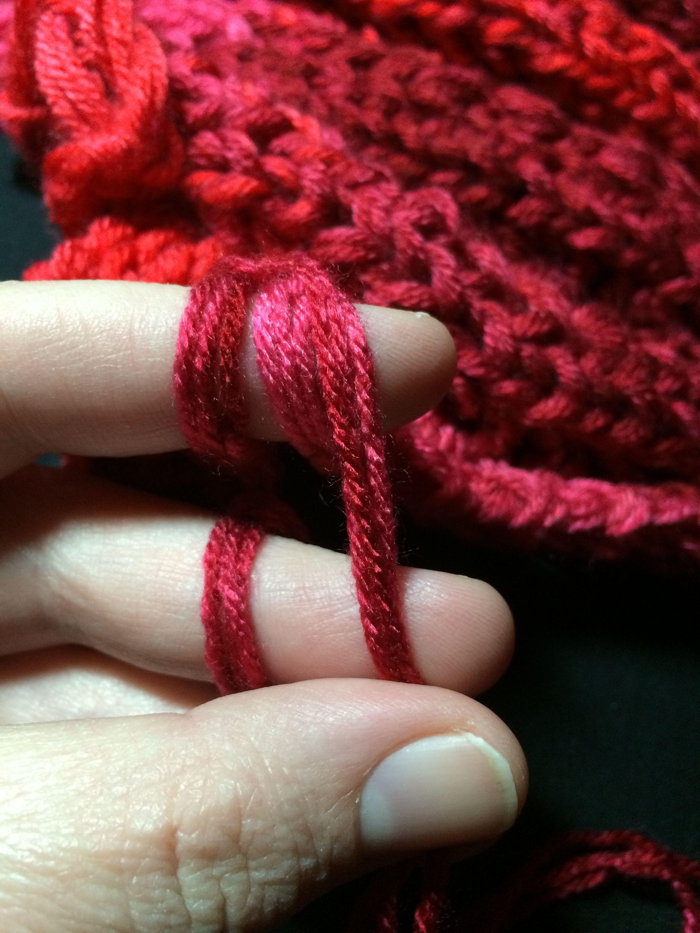 Finger Knitting Directions : Finger knit blanket written instructions crochet for the