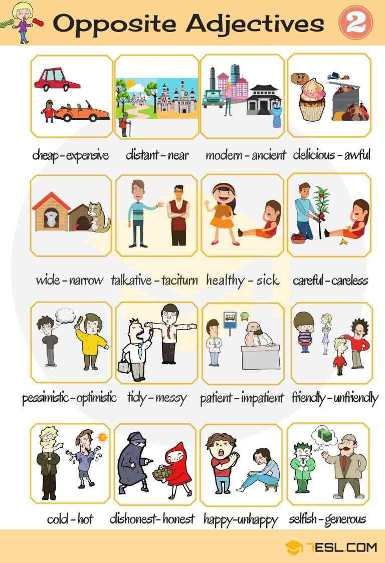 List Of Opposite Adjectives In English Eslbuzz Learning English English Adjectives List Of Adjectives List Of Opposites [ 1124 x 768 Pixel ]
