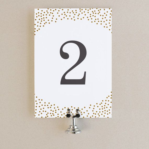 Table Numbers Template - DIY Printable Instant DOWNLOAD Gold - Download Numbers Spreadsheet For Mac