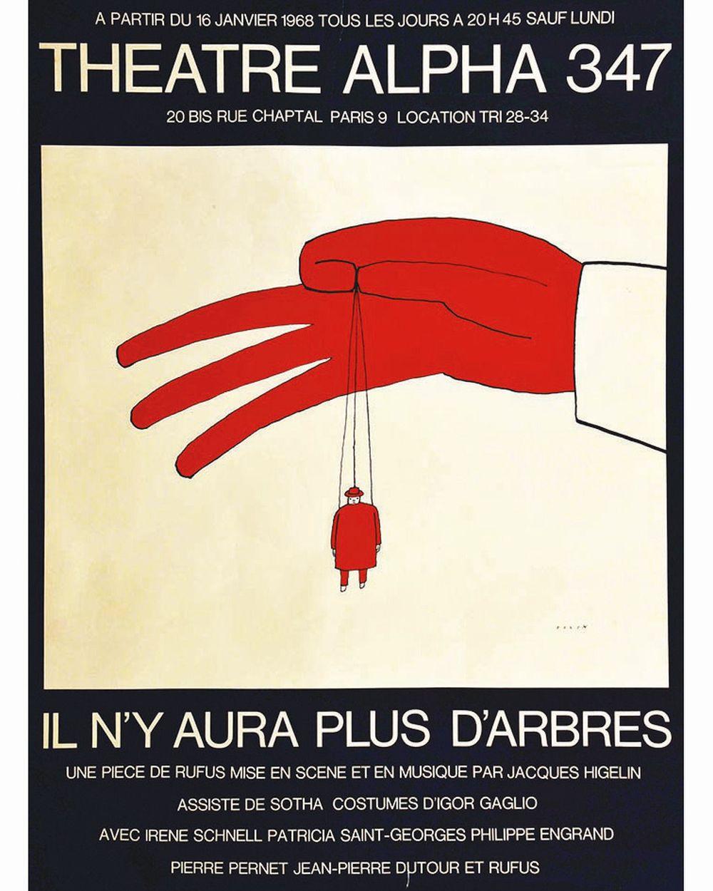 Folon Jean Michel Il N Y Aura Plus D Arbres Theatre Alpha 347