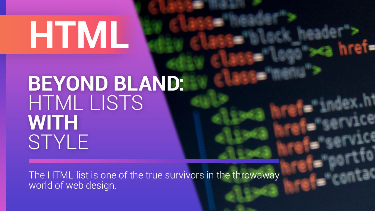 Beyond Bland HTML Lists with Style Web design, Blog, Style