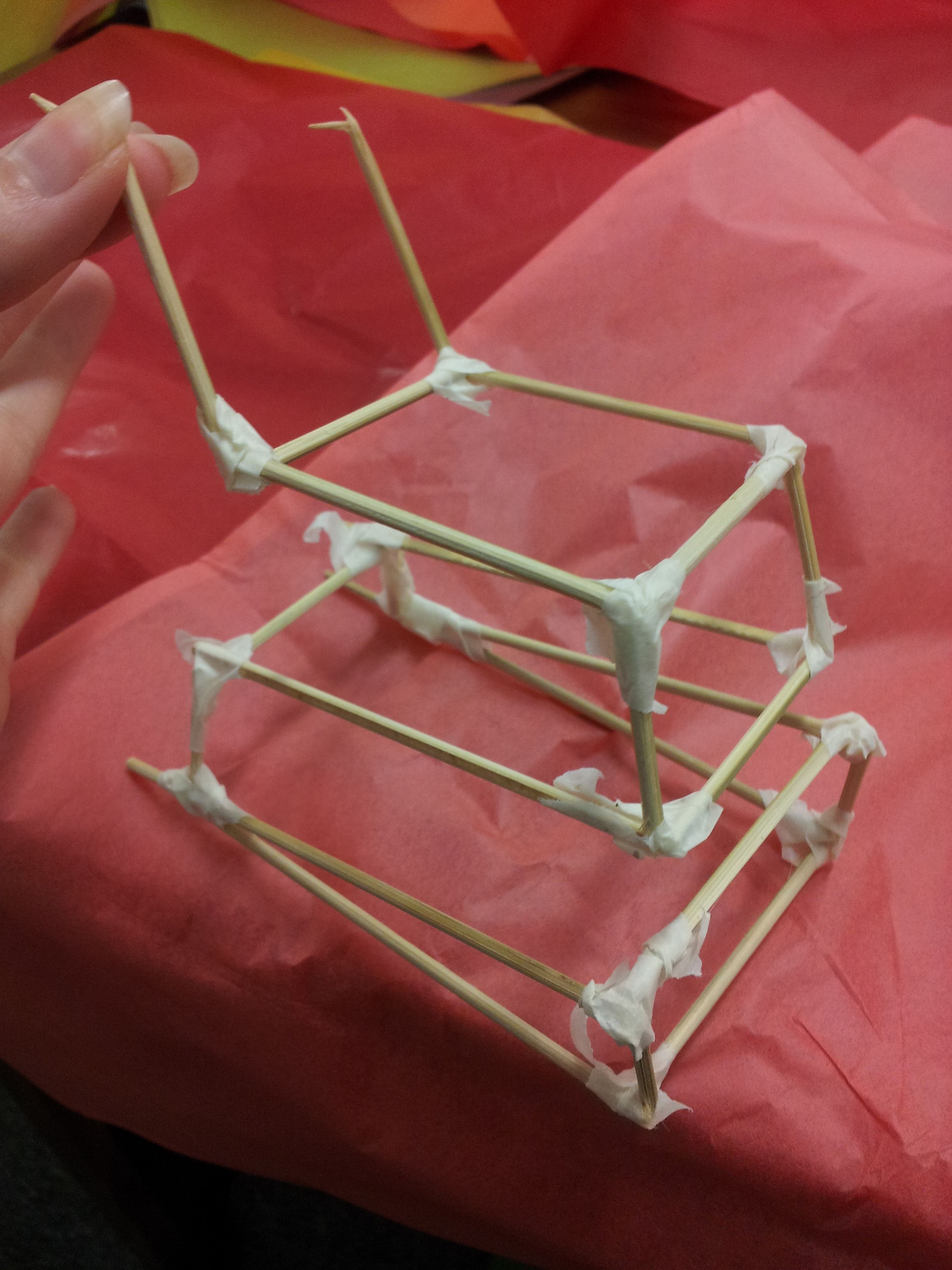 Chinese Dragon Head Frame - using sticks of bamboo and masking tape ...