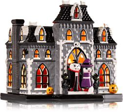 Bath Halloween Parade 2020 Ceramic Haunted House 3 Wick Candle Luminary   Home Fragrance