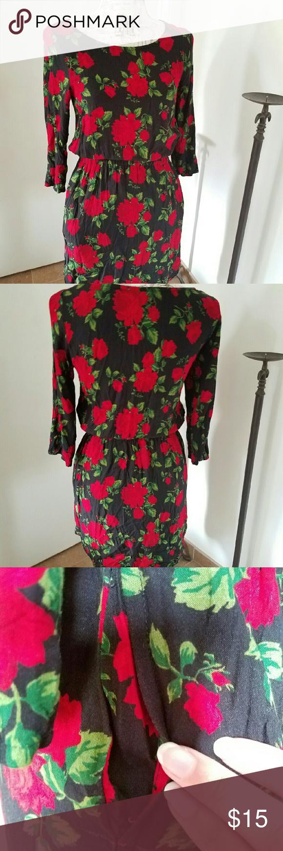 Red roses dress with pockets my posh picks pinterest