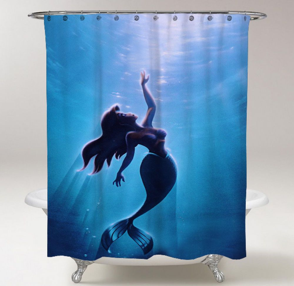 Ariel Shower Curtain New The Little Mermaid Shower Curtain 60