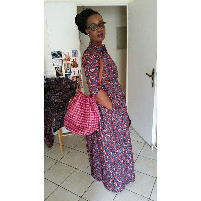 Carine LOHOURI @labeautesurlapeau La robe #Abouneke../ maxi dress