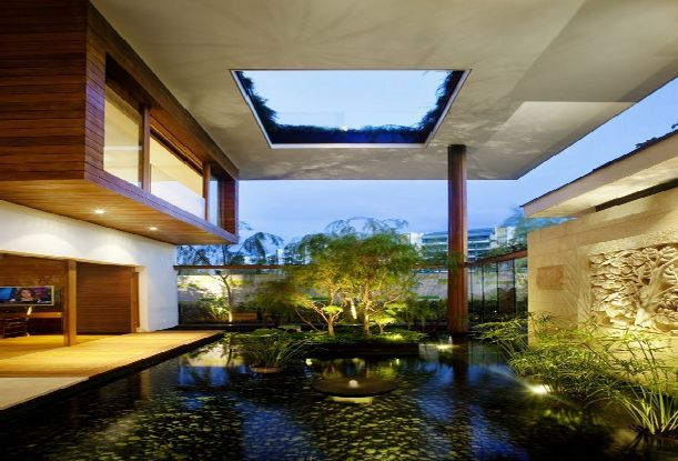 beautiful water garden | Courtyards | Pinterest | Singapore, Luxury ...