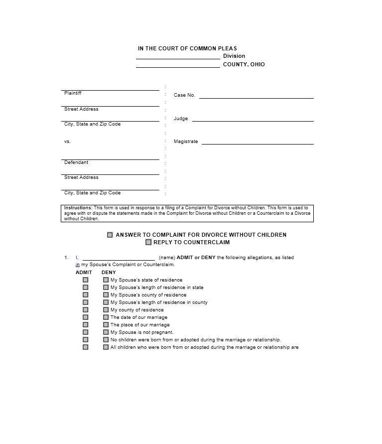 10 Divorce Forms Word Excel Pdf Templates Divorce Forms Divorce Agreement Printable Divorce Papers