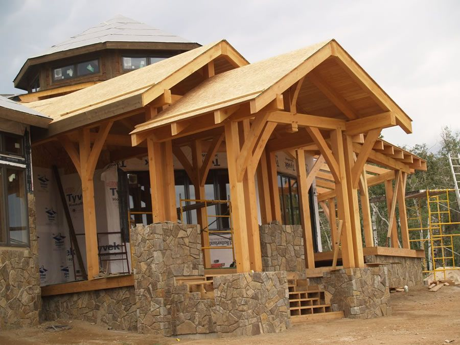 Timber Frame Home Brewster Timber Frame Company Bellvue Colorado Http Www Timberframes Net Portfolio Kiely G Building A Shed Shed Plans Timber Frame Homes