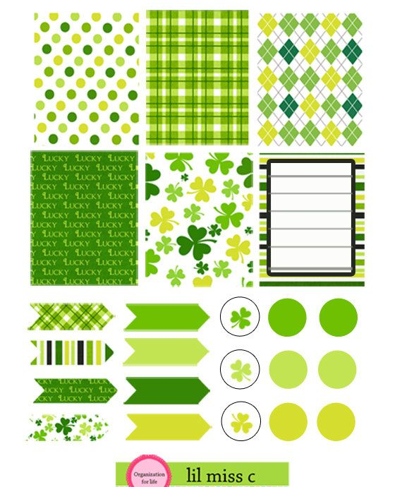 Erin Condren Stickers March Stickers St by lilmisscdesigns on Etsy