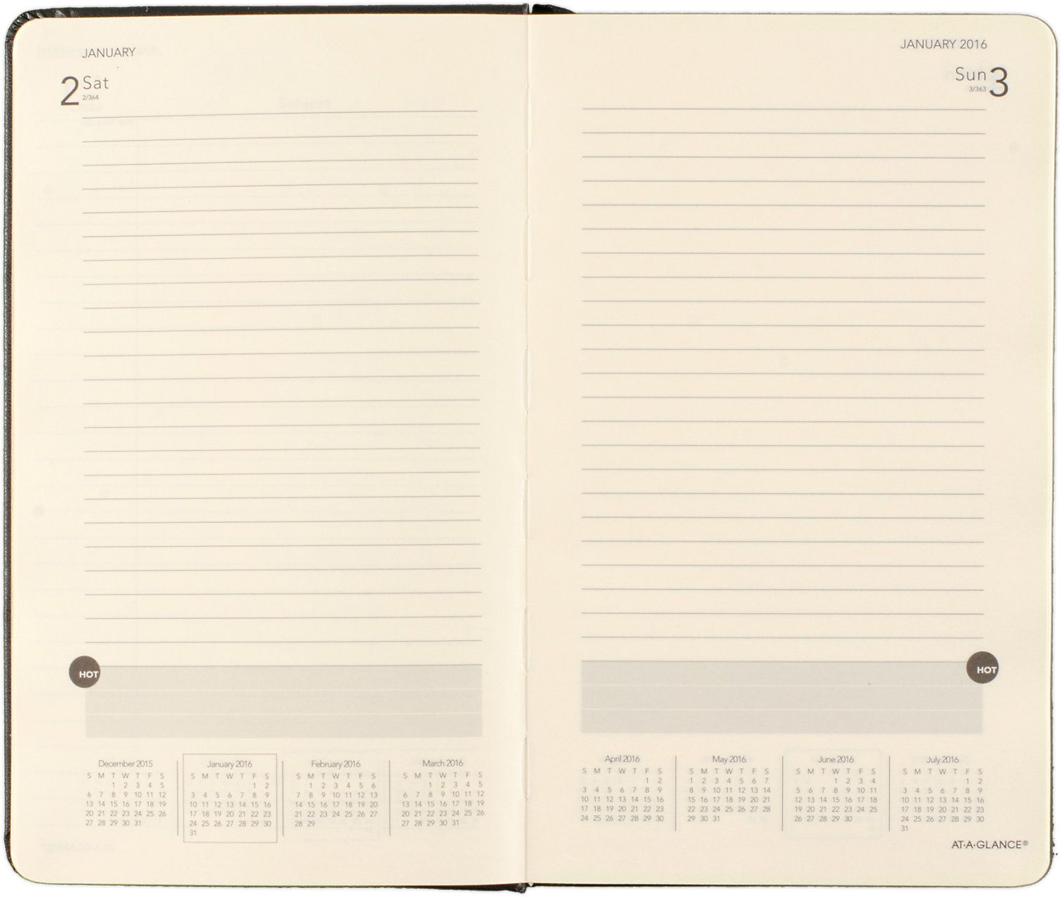 perfect bound daily planner  706800