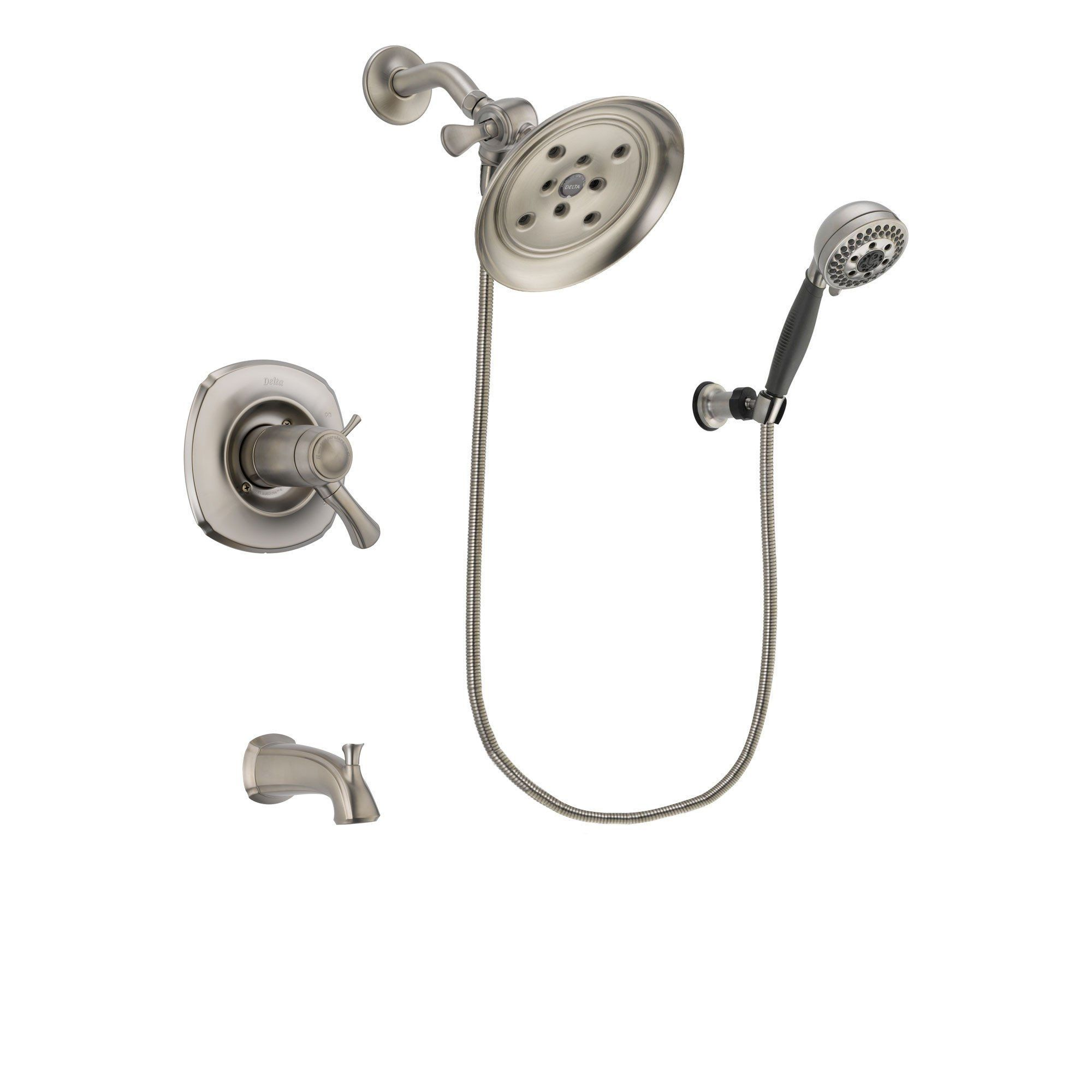 Delta Addison Stainless Steel Finish Thermostatic Tub and Shower ...