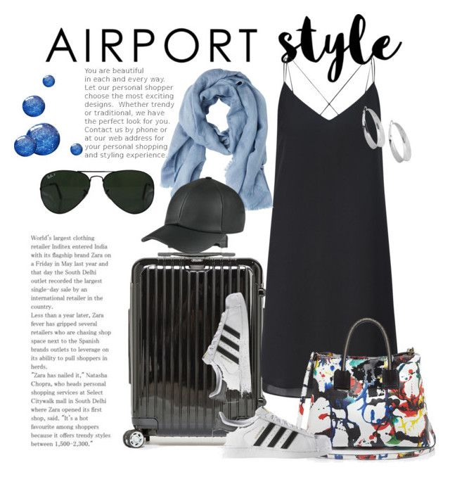 """Airport style 2"" by shaunnhicks on Polyvore featuring Salsa, Miss Selfridge, MANGO, Milly, adidas, Ray-Ban, Robert Lee Morris, GetTheLook and airportstyle"