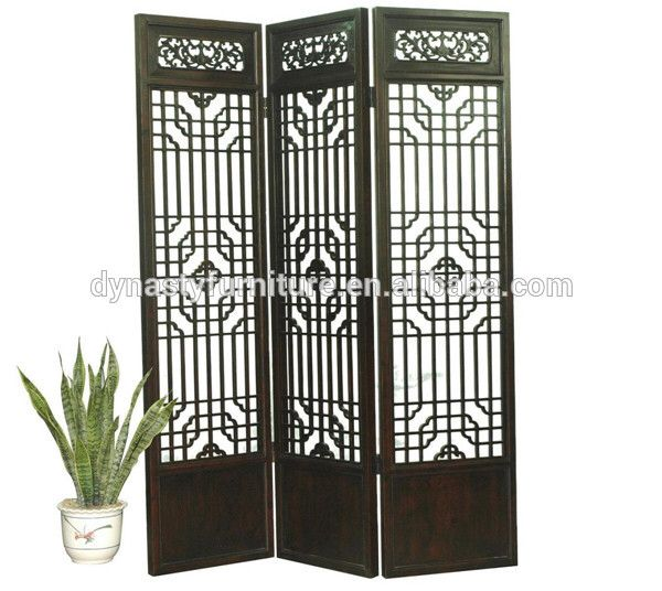 Marvelous Chinese Furniture Wooden Folding Screen Room Divider
